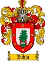 Zubia Family Crest / Coat of Arms JPG or PDF Image Download - $6.99