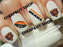Star Quality》Chicago Bears Nfl Football Logos》Tattoo Nail Art Decals《Non Toxic - $16.99