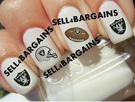 Oakland Raiders Nfl Football Logos》Tattoo Nail Art Decals《Non Toxic - $16.99