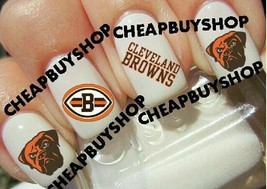 Cleveland Browns Nfl Football Logos》Tattoo Nail Art Decals《Non Toxic - $16.99