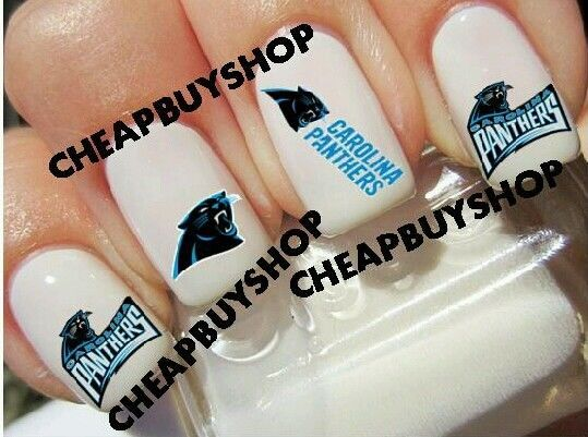 Carolina panthers nfl football logos tattoo nail art for Carolina panthers tattoos