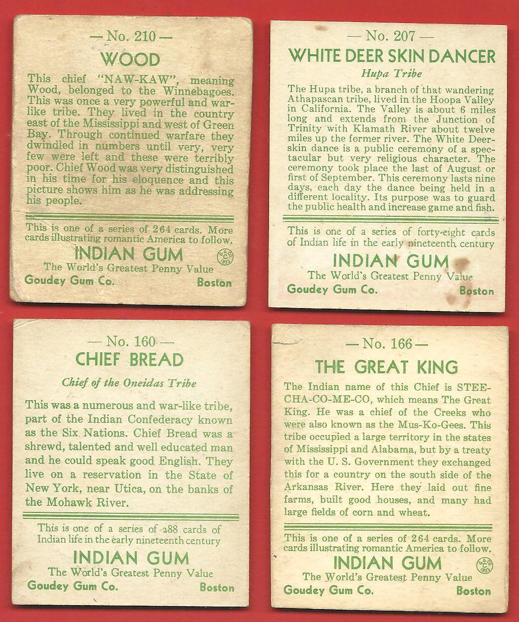 1931 GOUDEY  CHEWING  GUM   7 CARD LOT TOTAL  160 /166 /169 /193 / 206/ 207 /210 image 2