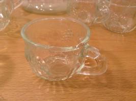 22 Piece Crystal Fruit Punch Bowl Set by Jeannette Glass Company PA Vintage image 10