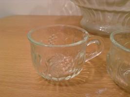 22 Piece Crystal Fruit Punch Bowl Set by Jeannette Glass Company PA Vintage image 3