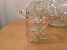 22 Piece Crystal Fruit Punch Bowl Set by Jeannette Glass Company PA Vintage image 6