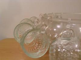 22 Piece Crystal Fruit Punch Bowl Set by Jeannette Glass Company PA Vintage image 4
