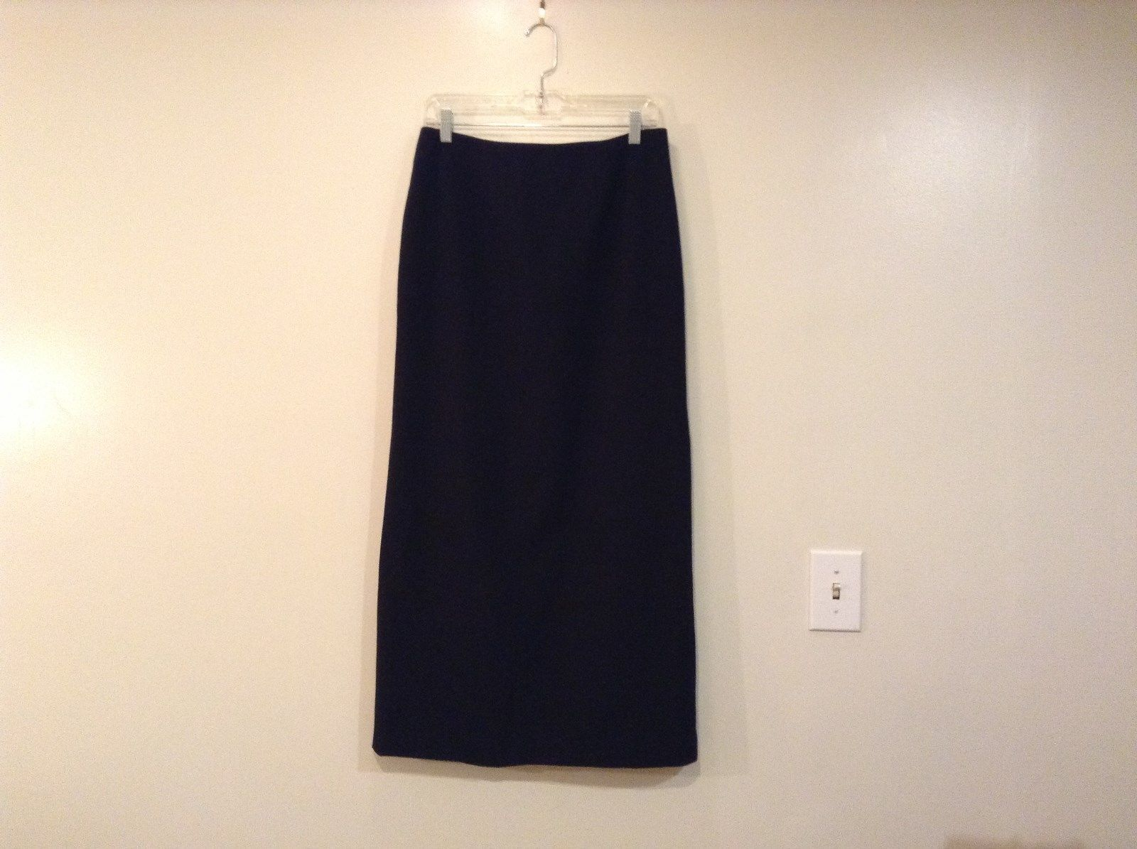 Apostrophe Black Long Fully Lined Skirt Size 12 Back Zipper No Pockets Back Slit