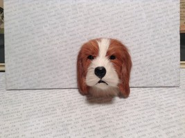 Beagle Dog Head Mini Refrigerator Magnet Recycled Rabbit Fur