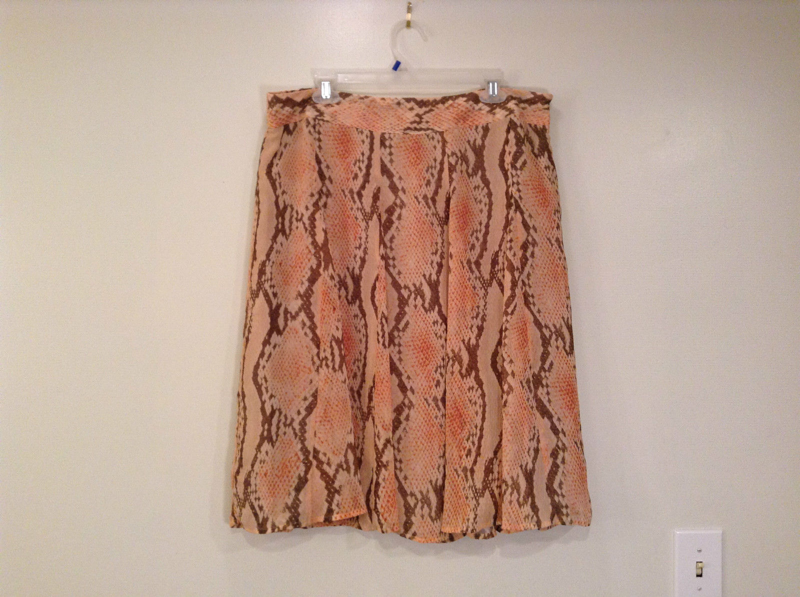 Beige Brown Red Snake Skin Print Size XL Fully Lined  Skirt by Attention