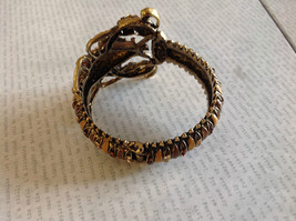 Brass Lobster Clasp Bracelet with Rhinestones Clique