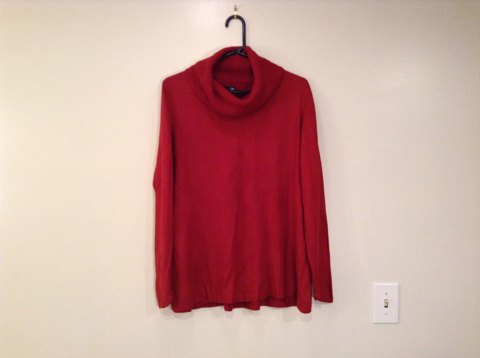 Brick Red East 5th Long Sleeve Turtleneck Top 100Percent Acrylic Size 1X