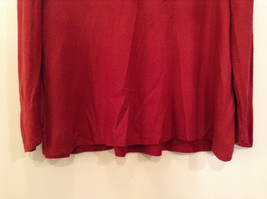 Brick Red East 5th Long Sleeve Turtleneck Top 100Percent Acrylic Size 1X image 3