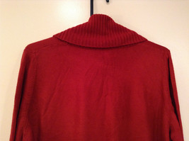 Brick Red East 5th Long Sleeve Turtleneck Top 100Percent Acrylic Size 1X image 5