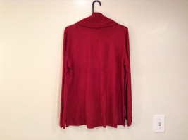 Brick Red East 5th Long Sleeve Turtleneck Top 100Percent Acrylic Size 1X image 4