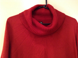 Brick Red East 5th Long Sleeve Turtleneck Top 100Percent Acrylic Size 1X image 2