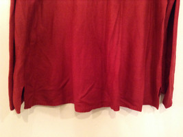 Brick Red East 5th Long Sleeve Turtleneck Top 100Percent Acrylic Size 1X image 6