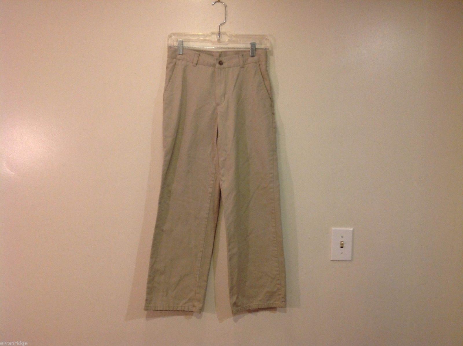 Chaps size 14 regular boys beige dress pants 100% cotton