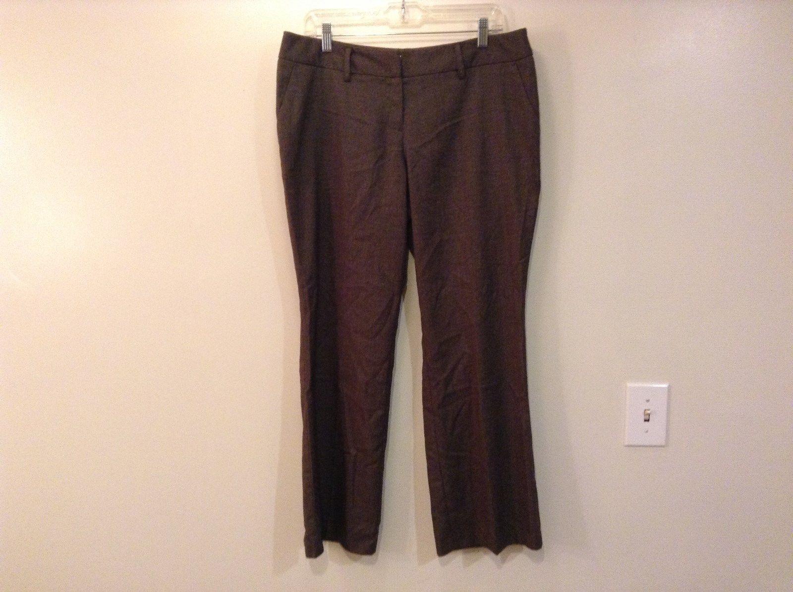 Brown Flat Front Apt 9 Petite Dress Pants Size 12 Petite Button Zipper Closure