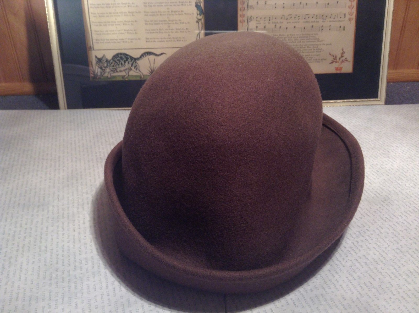 Brown Felt Hat Toucan Brand 12 Inches Long 8 Inches Wide Very Nice