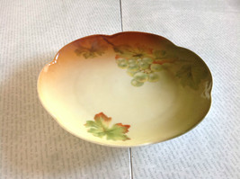 Ceramic Autumn Saucer Plate with Green Grapes Colorful