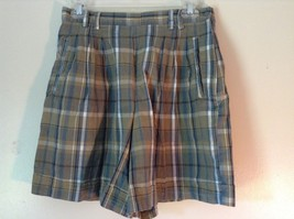 Brown and Green Plaid GAP Casual Shorts Sizes 10 Belt Loops Side Zipper Closure image 1