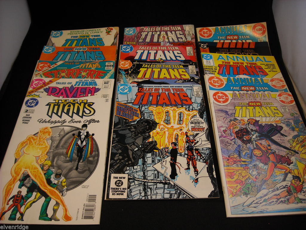 Collection of Teen Titan Comic Books