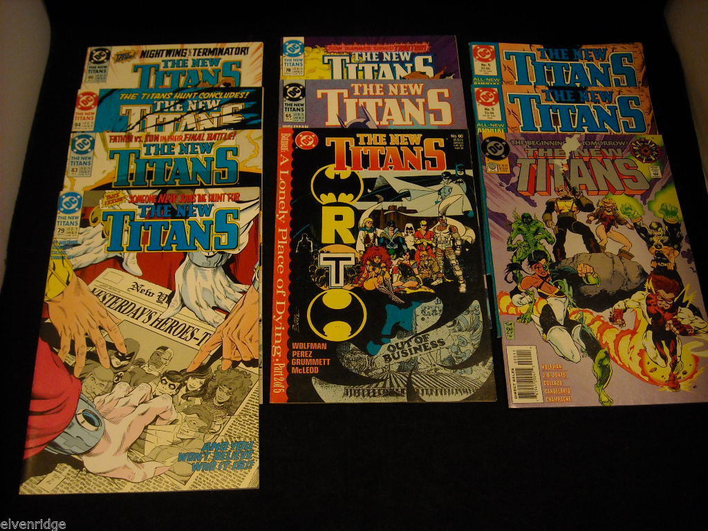 Collection of The New Titans Comic Books