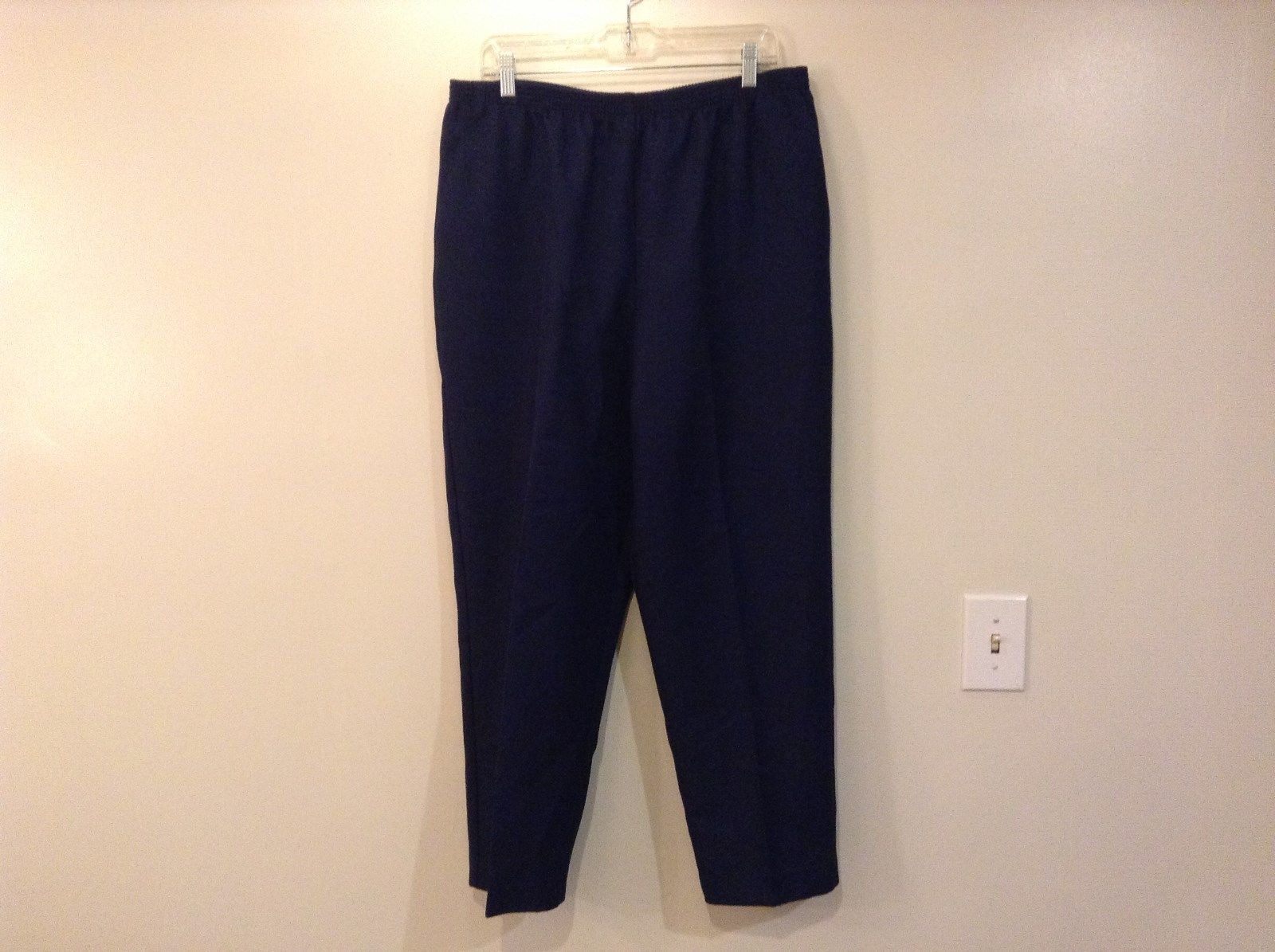Dark Blue Sweatpants Alfred Dunner Size 18 Comfort Elastic Waistband Pockets