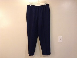 Dark Blue Sweatpants Alfred Dunner Size 18 Comfort Elastic Waistband Pockets
