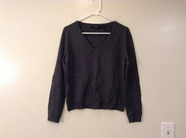 Express Stretch Gray V Neck Long Sleeve Sweater Very Nice Good Condition Size L