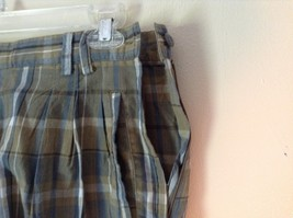 Brown and Green Plaid GAP Casual Shorts Sizes 10 Belt Loops Side Zipper Closure image 4