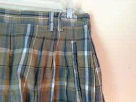 Brown and Green Plaid GAP Casual Shorts Sizes 10 Belt Loops Side Zipper Closure image 3