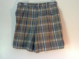 Brown and Green Plaid GAP Casual Shorts Sizes 10 Belt Loops Side Zipper Closure image 5