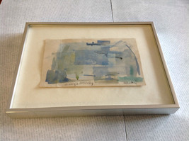 Conceptual Modernist Blue Framed Painting by Anita Witteu Dedicated image 4