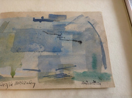 Conceptual Modernist Blue Framed Painting by Anita Witteu Dedicated image 3