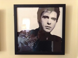 Framed Black and White Signed Photograph of Peter Gabriel image 2