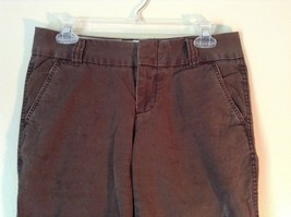 Favorite Chino Cropped Brown Denim Capris Size 4 Zipper and Clasp Closure image 2