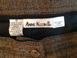 Green Brown Gold Skirt by Anne Klein II Size 10 Button and Zipper on Front image 7