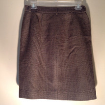 Green Brown Gold Skirt by Anne Klein II Size 10 Button and Zipper on Front image 6