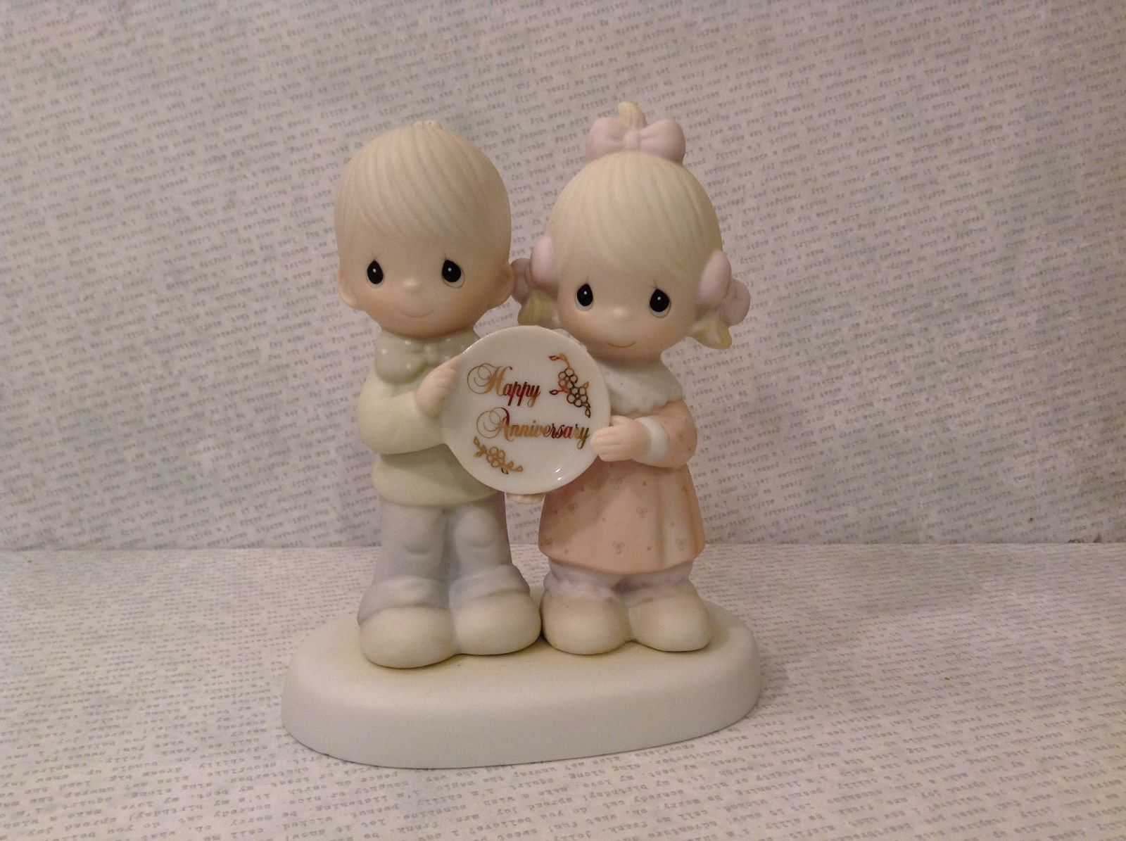 God Blessed Our Years Together Happy Anniversary Enesco Figurine 1983 Vintage