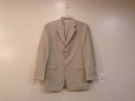 J Ferrar Natural Linen Very Light Gray Lined Suit Jacket Blazer Size 40L