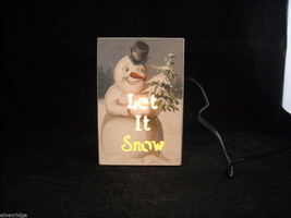 """Let it Snow"" Snowman Sign Christmas Home Decoration night light"