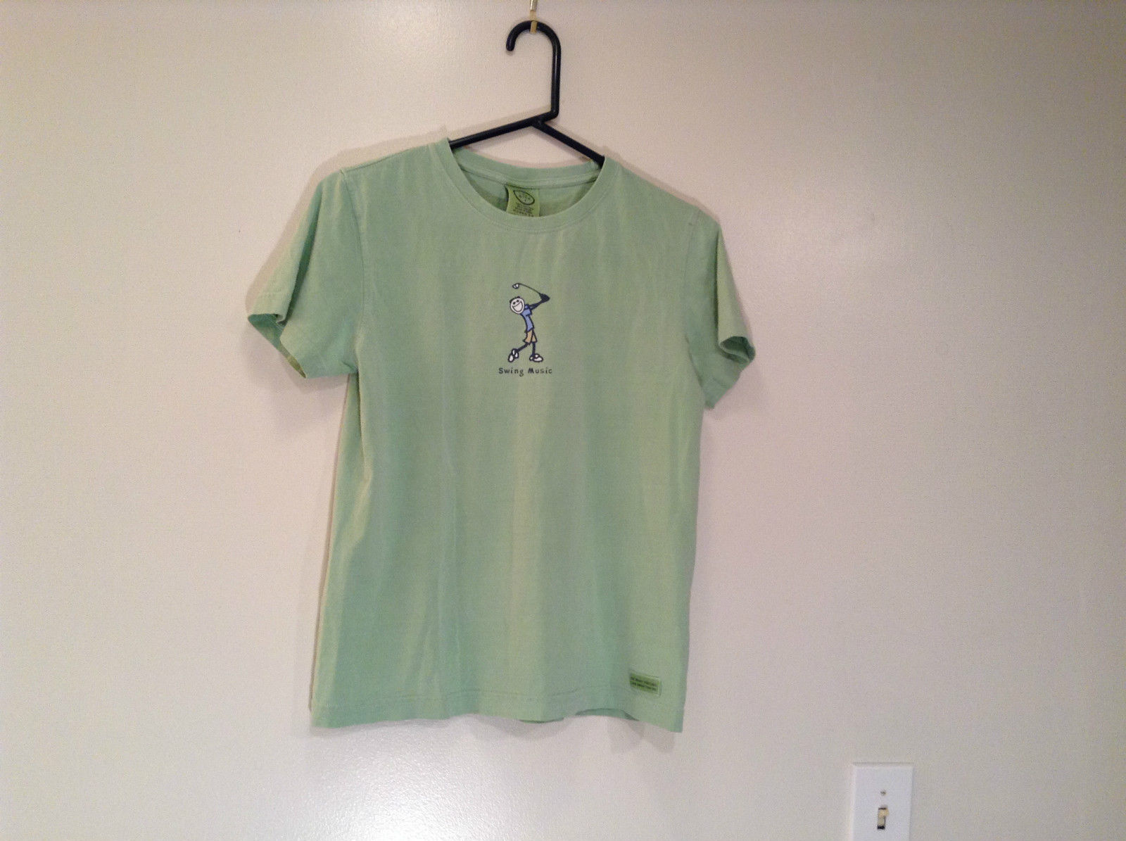 Life is Good Light Green Short Sleeve T Shirt Size S 100 Percent Cotton