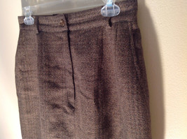 Green Brown Gold Skirt by Anne Klein II Size 10 Button and Zipper on Front image 4