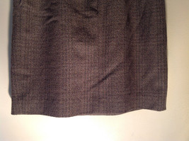Green Brown Gold Skirt by Anne Klein II Size 10 Button and Zipper on Front image 3