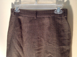 Green Brown Gold Skirt by Anne Klein II Size 10 Button and Zipper on Front image 5