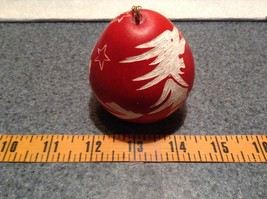 Hand Carved Peruvian Gourd Art Red with White Dragon Lucuma Designs Fair Trade image 6