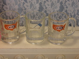 Vintage Childs Mug A&W Root Beer Drive In, Set of Three, 1970s 1980s Adv... - $22.99