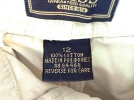 Khaki G H Bass and Company BASS Size 12 Shorts 100 Percent Cotton Pockets image 3