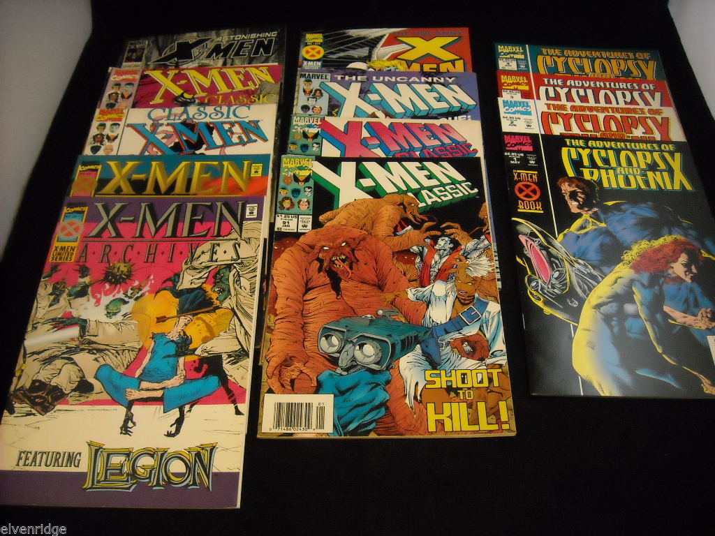 Lot of Uncanny X-Men, Classic X-Men, and Cyclops and Phoenix Comic Books